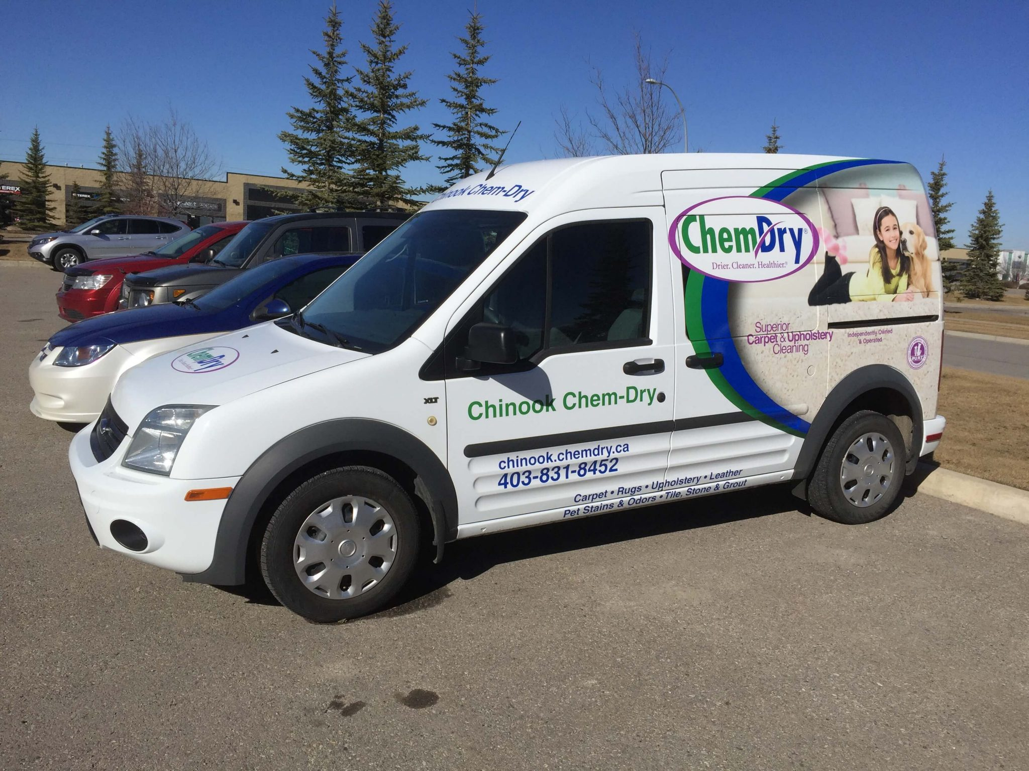 Chinook chem-dry van
