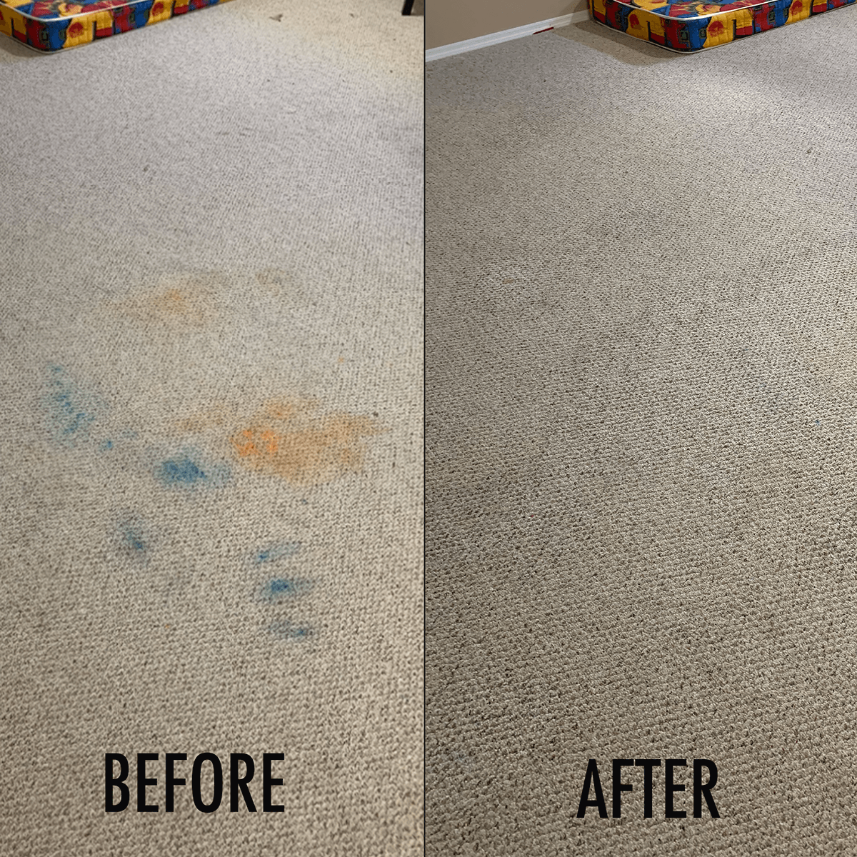 before and after stain removal