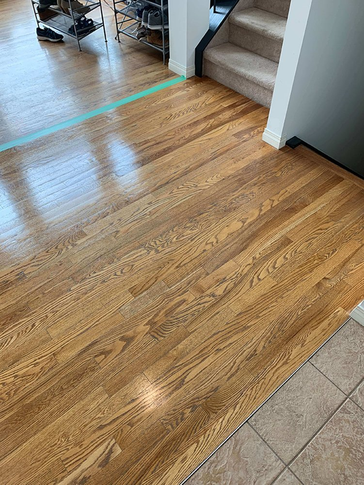 clean and seal wood flooring in calgary, ab